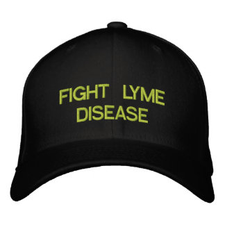 FIGHT LYME DISEASE EMBROIDERED BASEBALL CAP