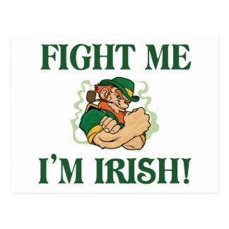 Fight Me I m Irish Postcards