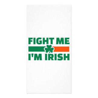 Fight me I'm Irish Photo Card Template