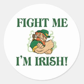 Fight Me I'm Irish Stickers