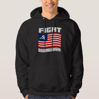 Fight Obamunism white Hoodies