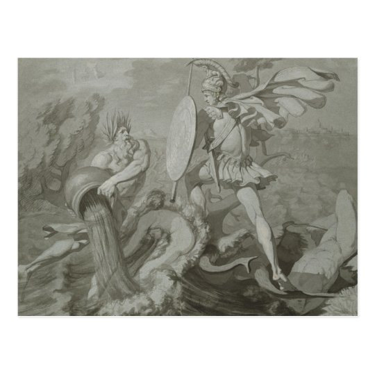 Fight of Achilles with the River Scamander Postcard