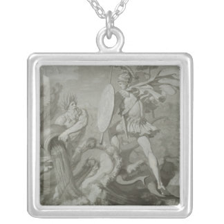 Fight of Achilles with the River Scamander Silver Plated Necklace