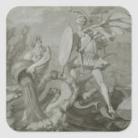 Fight of Achilles with the River Scamander Square Sticker