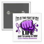 Fight Of My Life 2 Cystic Fibrosis 15 Cm Square Badge