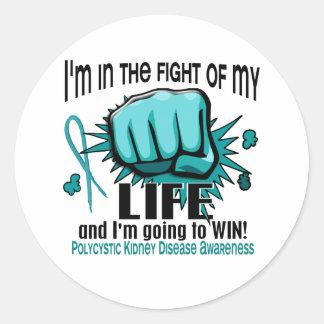 Fight Of My Life 2 PKD Classic Round Sticker