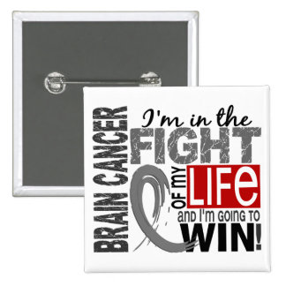 Fight Of My Life Brain Cancer 15 Cm Square Badge