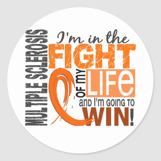 Fight Of My Life Multiple Sclerosis Stickers