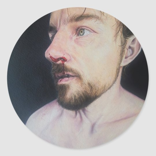 Fight - oil painting portrait sticker