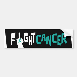 Fight Ovarian, Uterine & Cervical Cancer Car Bumper Sticker