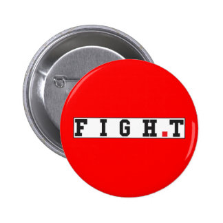 fight text message emotion feeling red dot square 6 cm round badge