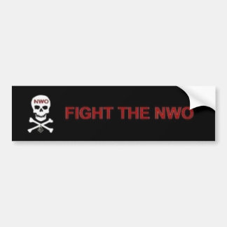 Fight the New World Order Bumper Stickers