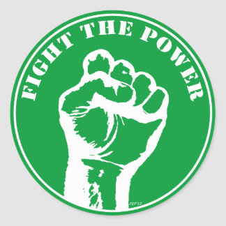 Fight The Power Classic Round Sticker