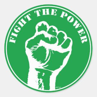 Fight The Power Round Sticker