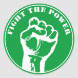 Fight The Power Round Stickers