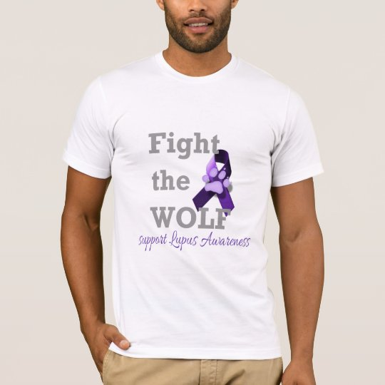 Fight the Wolf! Support Lupus Awareness T-Shirt