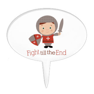 Fight Till The End Cake Toppers