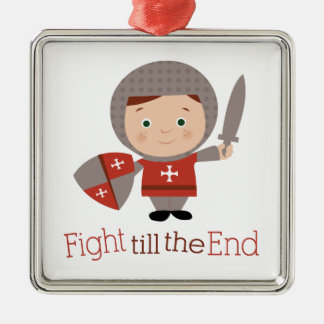 Fight Till The End Christmas Tree Ornaments