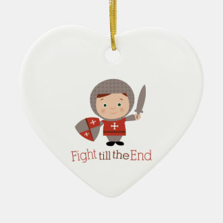 Fight Till The End Christmas Tree Ornament