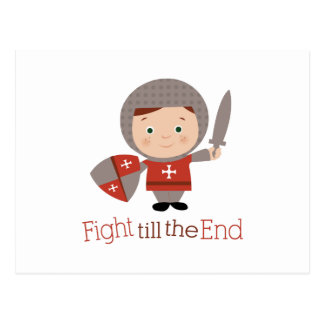 Fight Till The End Postcard