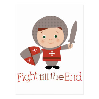 Fight Till The End Postcards