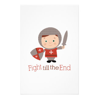 Fight Till The End Custom Stationery