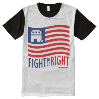 FIGHT TO BE RIGHT - Politiclothes Humor -.png All-Over Print T-Shirt