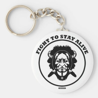 """Fight to STAY ALIVE"" 2.25"" button keychain"