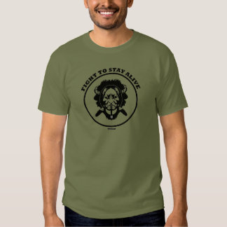 """""""Fight to STAY ALIVE"""" dark t-shirt"""
