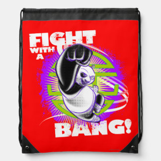 Fight with a Bang Drawstring Bag
