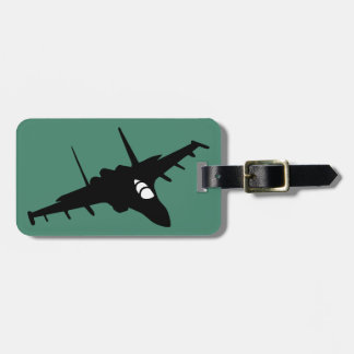 Fighter aircraft luggage tag