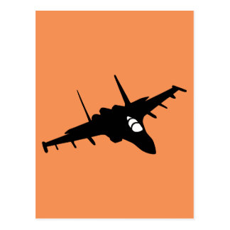fighter aircraft postcard