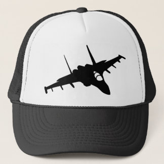 Fighter aircraft trucker hat