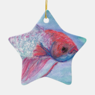 Fighter Fish Christmas Ornament