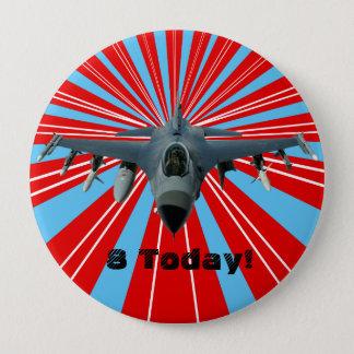 Fighter Jet 10 Cm Round Badge