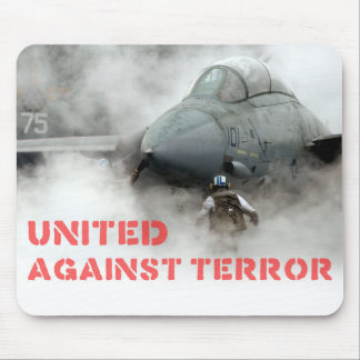 Fighter jet aircraft: United against terror Mouse Mat