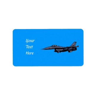 Fighter Jet Flying Address Label