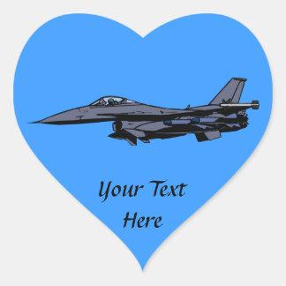 Fighter Jet Flying Heart Sticker