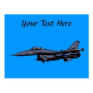 Fighter Jet Flying Postcard