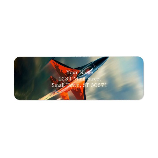 Fighter Jet Military aeroplane speed Return Address Label