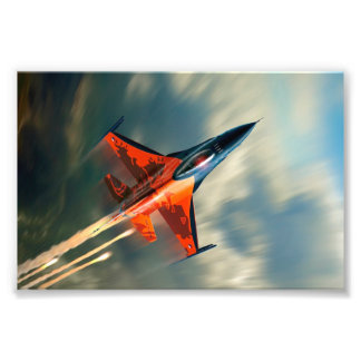 Fighter Jet Military airplane speed Art Photo