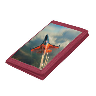 Fighter Jet Military airplane speed Trifold Wallet