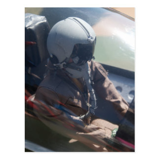 Fighter Jet Pilot Figure Postcard