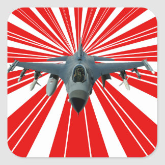 Fighter Jet Square Sticker