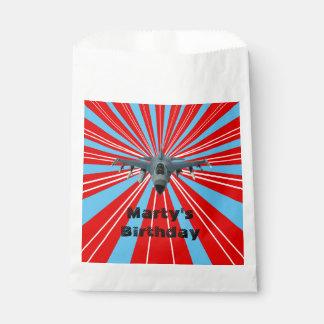 Fighter Jet  White Favor Bag