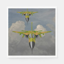 FIGHTER JETS DISPOSABLE NAPKIN