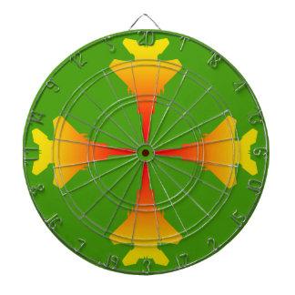 Fighter Jets Metal Cage Green Dartboard