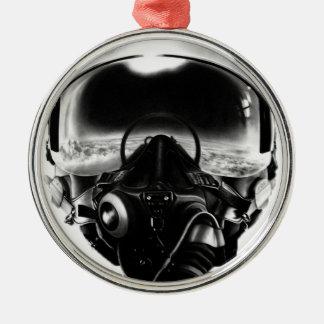 Fighter Pilot Helmet Christmas Ornament