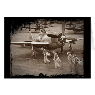 Fighter Pilots Training on P-47 Thunderbolts Card