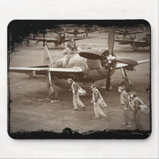 Fighter Pilots Training on P-47 Thunderbolts Mouse Mat